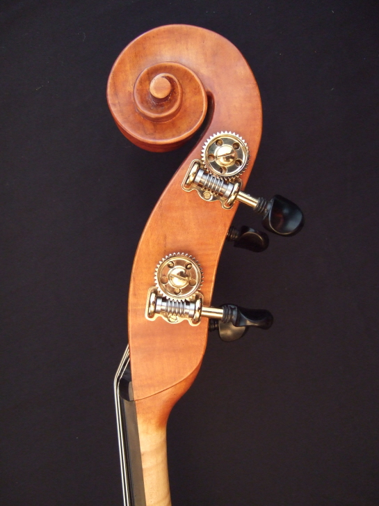 Malcolm Healey double bass scroll