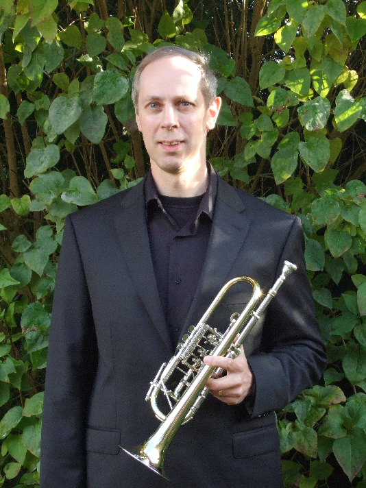 Philip Bishop with rotary C trumpet